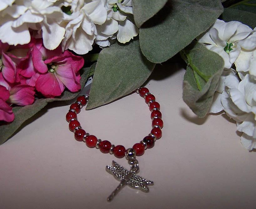 Red Dragonfly Bracelet -