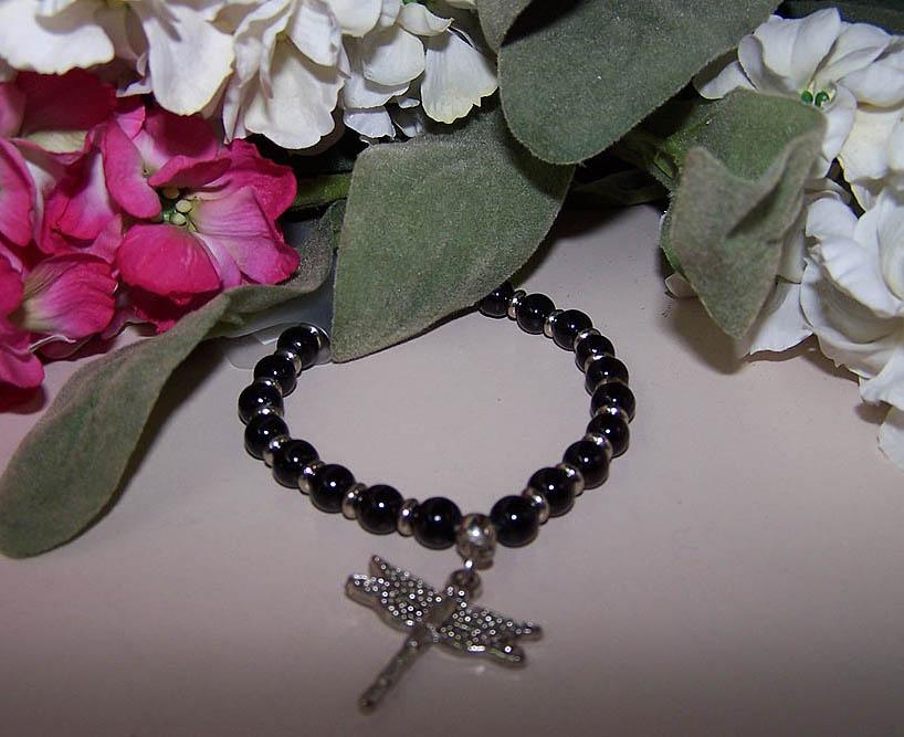 Black Dragonfly Bracelet -